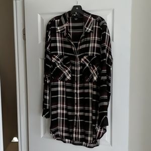 Sanctuary Plaid Boyfriend Top - Long Length